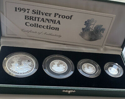 £249.99 • Buy 1997 Royal Mint  Silver Proof  Britannia Set  Boxed GREAT EXAMPLE  See Pictutes
