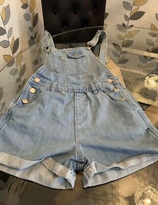 £1.99 • Buy Ladies Hearts And Bows Size Uk 6 Dungarees Blue Denim 🥰 (6) Party / Event Pride