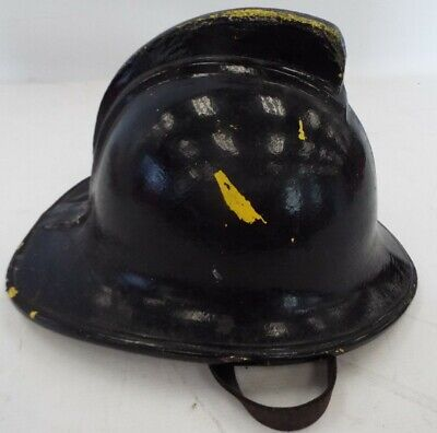 £9.99 • Buy Vintage Fire Mans Helmet Signed With Multiple Names 57 To 59 Medium - E23