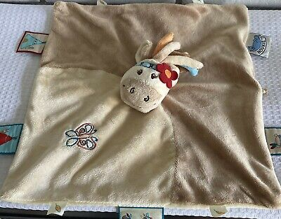 £7.31 • Buy NOUKIE'S Security Blanket Stuffed Toy For BABY Belgium Washable PreOwned