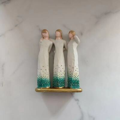 £12.99 • Buy Willow Tree Chrysalis 3 Sisters By My Side Sculpture Sculpted Figurines Gifts
