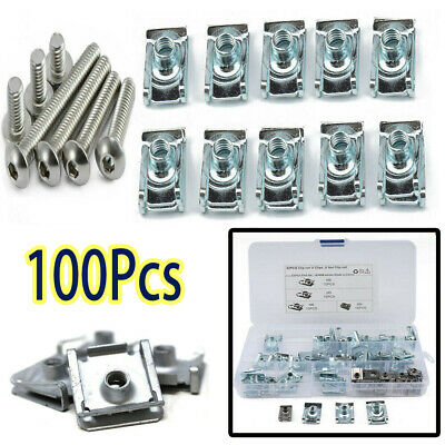 £11.99 • Buy 100Pcs Speed Fasteners U Nuts Self Tapping Screw Spire Clips Interior Trim Panel