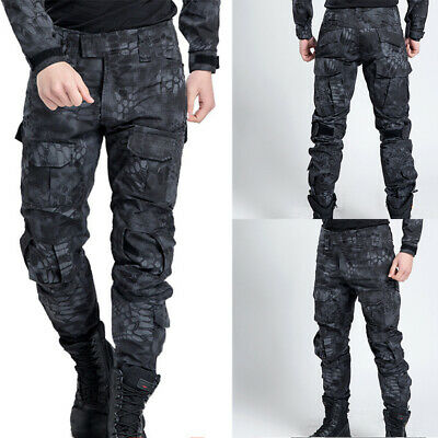 £22.99 • Buy Black Men Pant Work Camo Cargo Military Army Combat Trousers Tactical Airsoft UK