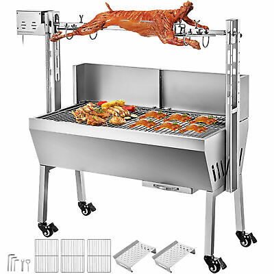 £149 • Buy 46  Large Stainless Steel BBQ Lamb Goat Rotisserie Spit Roast Grill Barbecue