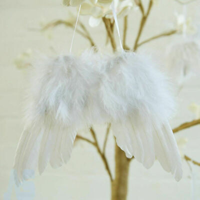 £5.19 • Buy 5pc White Vintage Feather Hanging Angel Wings Christmas Tree Wedding Wall Decor