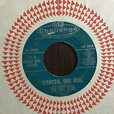 £2.19 • Buy 45 RPM Jan & Dean CHALLENGE 9120 Wanted One Girl / A Little Bit Different VG
