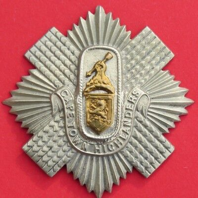 £30 • Buy Cape Town Highlanders <> South  African  Army <> Large 'pipers  Badge' <> Used