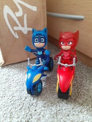£6.99 • Buy PJ Masks Cat Boy And Owlet Space Moon Bikes And Figures