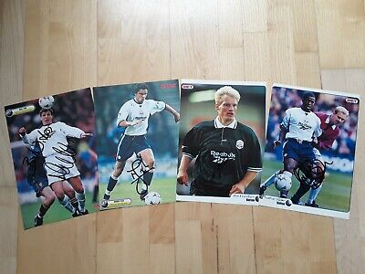 £3 • Buy 4x HAND-SIGNED BOLTON WANDERERS FC 1990s FOOTBALL MAG PICTURES (COX, FISH, +2)