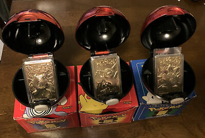 $75 • Buy Set Of 3 Red Burger King Pokemon Balls W/ 23k Gold Plated Cards