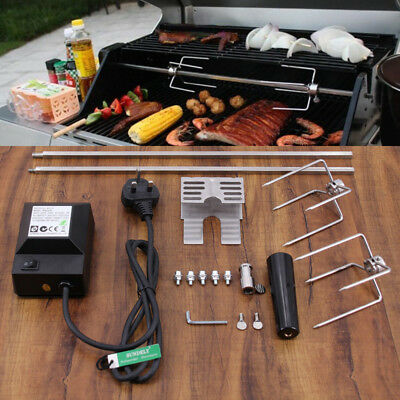 £50.83 • Buy BBQ Rotisserie Spit Kit Skewer Grill Roast Meat Electric Operated