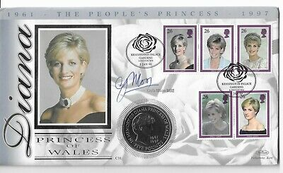£8.99 • Buy GB 1999 Princess Dianna - £5 Five Pound Coin Cover - Signed Chris Moon MBE