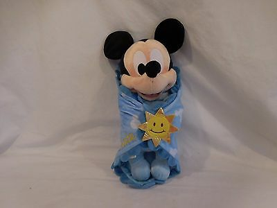 £4.40 • Buy Disney's Babies Mickey Mouse Plush Doll With Blanket 12  Plush Personalized Nate