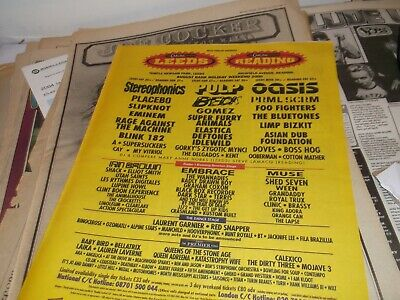 £5.50 • Buy Reading/leeds/ Festival 2000 Collectors Item/ Poster 2000 Framing