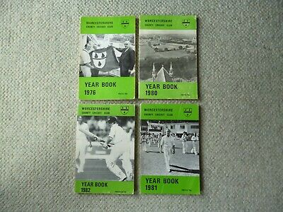 £4 • Buy Worcestershire County Cricket Club Yearbooks 1976 - 1982