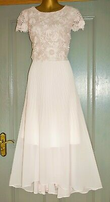 AU37.74 • Buy Coast Pale Pink Embroidered Pleat Formal Occasion Wedding Party Dress Size 18