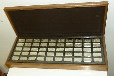 £2995 • Buy John Pinches 1000 Years Of British Monarchy Sterling Silver 50 Ingot Set Boxed