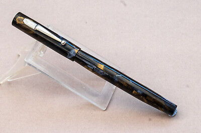 £20 • Buy Vintage Mabie Todd Swan Sm1-57 Fountain Pen Blue/gold Pearl Marble