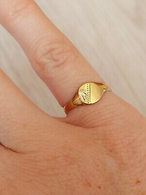 £28 • Buy Childs 9ct Gold Ring Or Pinky Finger Size J