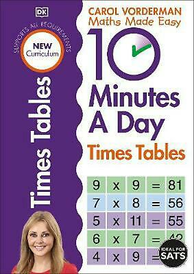 £6.49 • Buy 10 Minutes A Day Times Table By Carol Vorderman (English) Paperback Book Free Sh