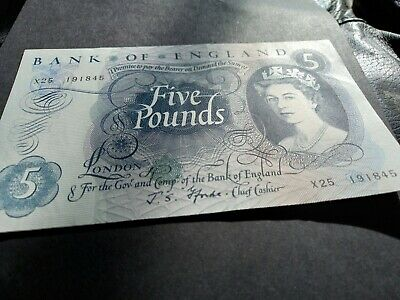 £0.99 • Buy Bank Of England 1967(£5) Five Pound Note J.s.fforde  X25 191845 Unc Note