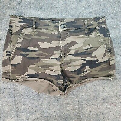 £13.89 • Buy EXPRESS Women's Shorts Camouflage Cut Off Green Size 10