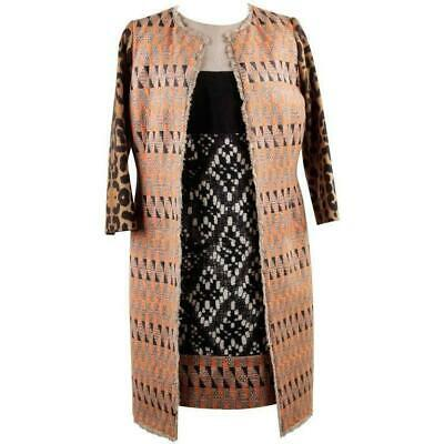 £603.15 • Buy Authentic Gianbattista Valli Patterned Panelled Shift Dress And Coat Suit Size S