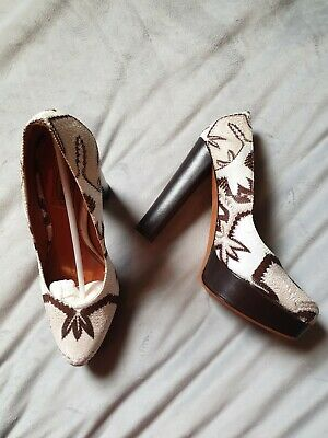 £35 • Buy Missoni Court Shoes Size 6 In Brown And Beige With Leather Soles
