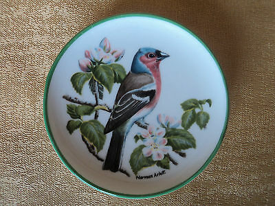 £4.99 • Buy Vintage Small Signed (coalport-england) Chaffinch Decorative Wall Plaque/plate.