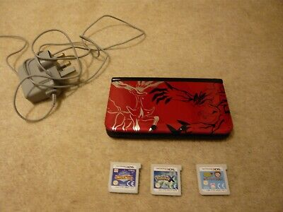 $184.62 • Buy Nintendo 3ds Xl Pokemon Red Console With Original Charger And 3 Games , Pokemon