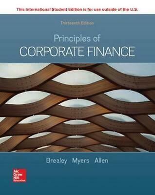 £62.63 • Buy ISE Principles Of Corporate Finance 13th Edition By Richard Brealey (English) Pa
