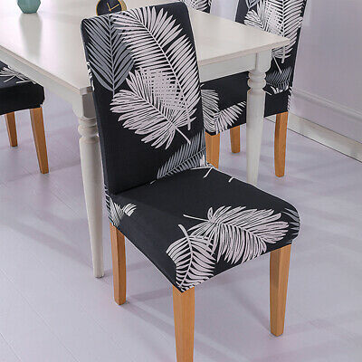 AU6.39 • Buy High Stretch Dining Chair Covers Elastic Seat Slipcovers Furniture Protection