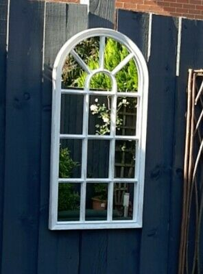 £19.95 • Buy  🍁🍂Window Style Arch Mirror Garden Home Wall Mounted Vintage 69x35cm 🍁🍂
