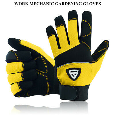 £5.95 • Buy Safety Work Gloves Heavy Duty Hand Protection Mechanic Gardening Builders Cut UK