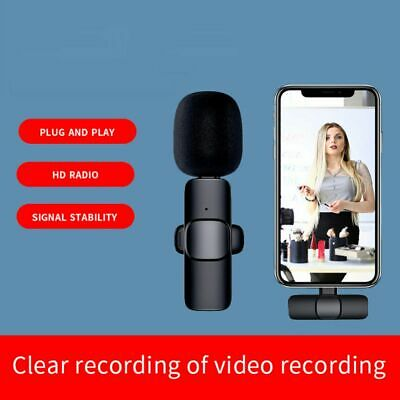 AU22.99 • Buy Wireless Lavalier Microphone Portable Audio Video Recording For Samsung Xiaomi