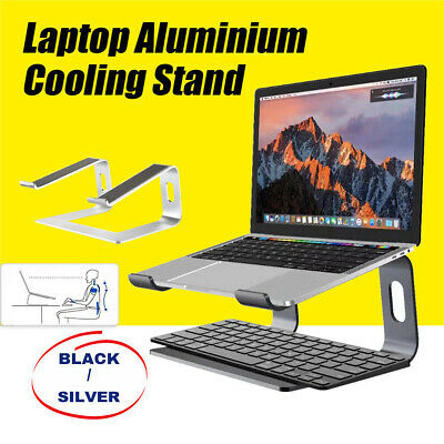 """AU29.95 • Buy Portable Aluminium Laptop Stand Tray Holder Cooling Riser For 11""""-15.4"""" MacBook"""