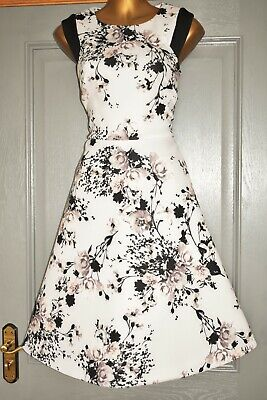 AU6.04 • Buy Phase Eight Ivory & Black Evening Wedding Formal Occasion Party Dress Size 12