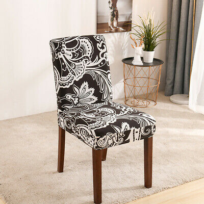 AU6.99 • Buy Stretch Dining Chair Covers Elastic Slipcovers Vintage Brown Covers Home Decor