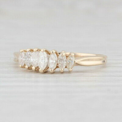 AU388.48 • Buy 0.50ctw Tiered Diamond Ring 14k Yellow Gold Size 9 Stackable