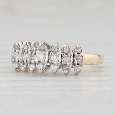 AU345.16 • Buy 0.47ctw Tiered Diamond Ring 10k Yellow Gold Size 8.25 Stackable