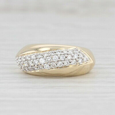 AU821.67 • Buy 0.50ctw Pave Diamond Ring 14k Yellow Gold Size 5.25 Stackable Band