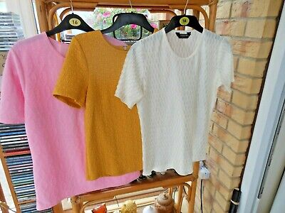 £3.99 • Buy Bundle Lot Of 3 Size 12 Tops- M&s/bon Marche/forever By Michael Gold