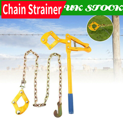 £46.19 • Buy Chain Strainer Wire Fence Stretcher Tensioner Repair Pull Cattle W/ Grip Jaw