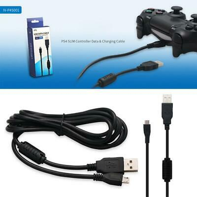 AU6.86 • Buy 2 In 1 Micro Charging USB Data Cable Charger For Sony PS4 Slim Game Controller