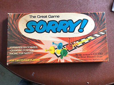 £6 • Buy Vintage  Sorry!  Family Board Game. By Waddingtons Games 1969