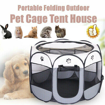 £14.96 • Buy Pet Play Pen Puppy Dog Cat Cage Durable Fabric Foldable Travel Pop Up Tent New