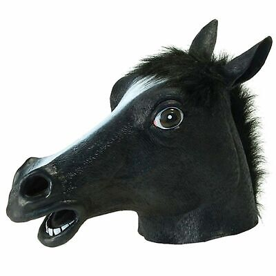 £10.53 • Buy Horse Head Mask Animal Rubber Adult Creepy Costume Prop Halloween Cosplay Party