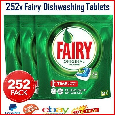 AU57 • Buy 252pk Fairy Dishwashing Tablets For Dishwasher Tabs Caps All In One Stain Remove