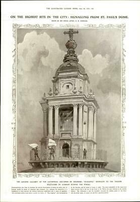 £15.75 • Buy 1911 Antique Print - LONDON St Pauls Dome Golden Gallery Cathedral Strike (180)