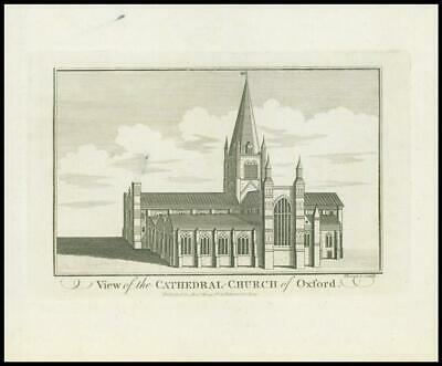 £9 • Buy 1786 Antique Print VIEW Of The CATHEDRAL CHURCH Of OXFORD Hogg (HE7)